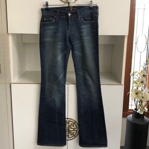 7 for all mankind bootcut stretch jeans 26